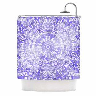 Boho Flower Mandala Shower Curtain