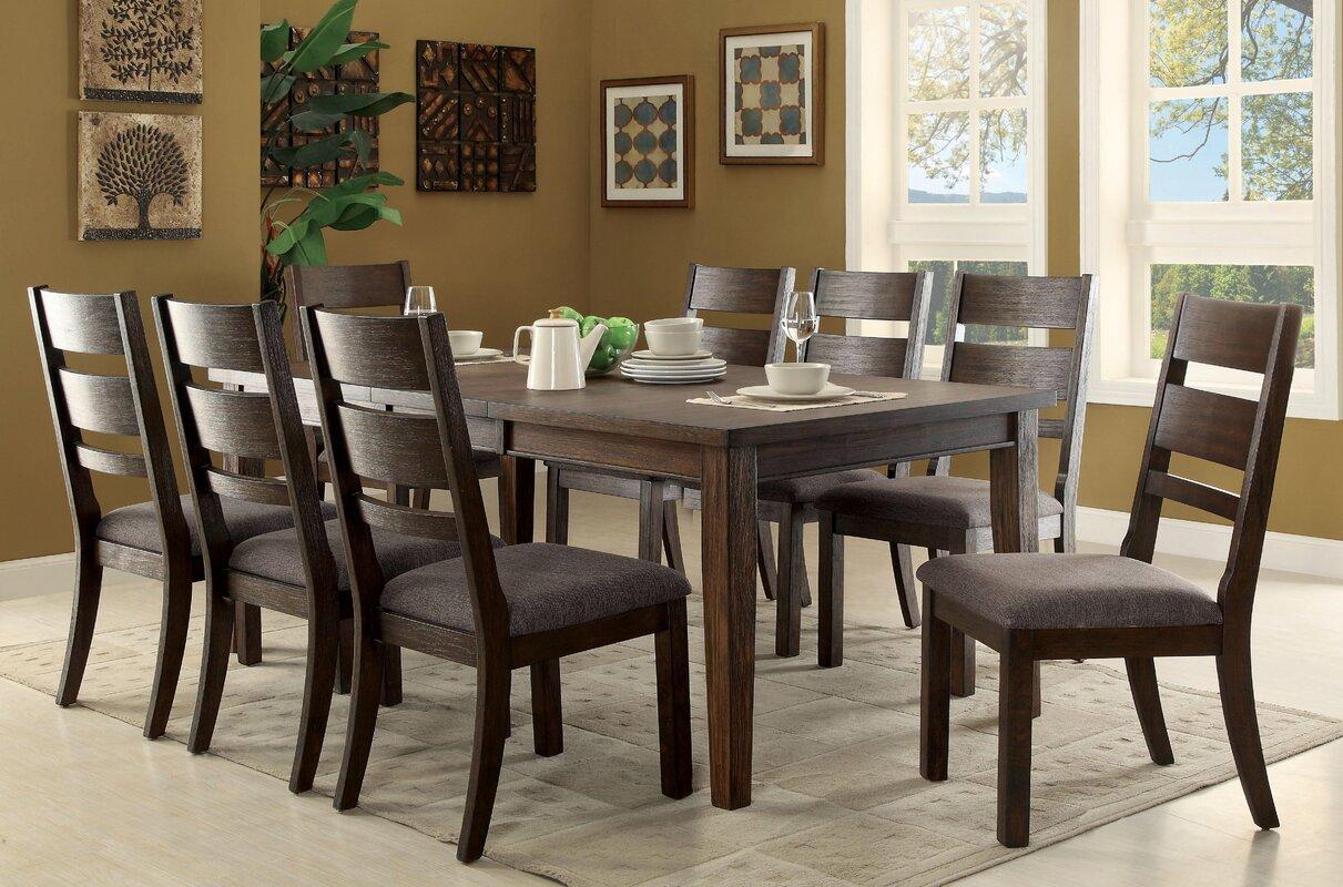 latitude run rozelle 9 piece dining set u0026 reviews wayfair