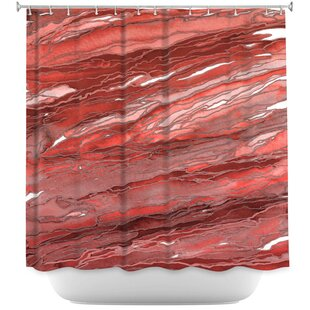 Agate Magic Rust Single Shower Curtain