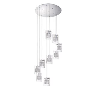 Hoekstra 9-Light Cluster Pendant by Orren Ellis
