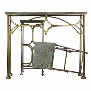 Westgate Extraordinary Metal 3 Piece Console Table Set with Wooden Top By Bungalow Rose