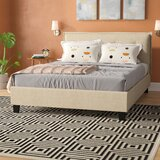 Almaguer Upholstered Platform Bed by Wrought Studio™