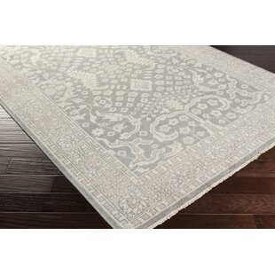 Mollie Hand-Knotted Medium Gray Area Rug by Alcott Hill