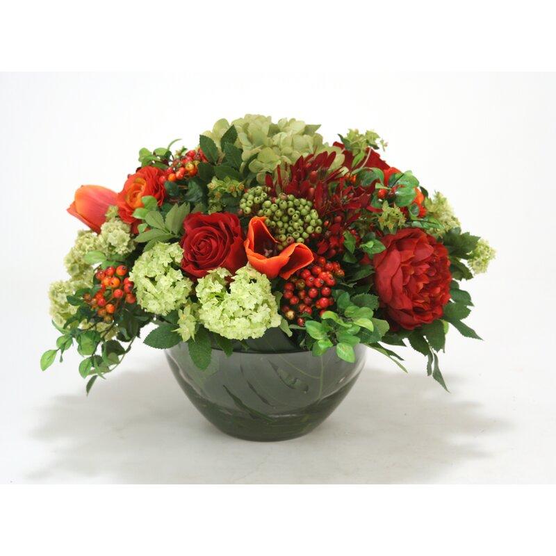 Mixed Floral Arrangements In Vase Joss Main