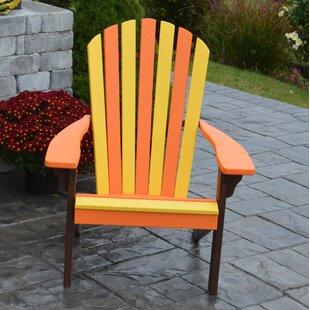 Carignan Fanback Plastic Adirondack Chair by August Grove