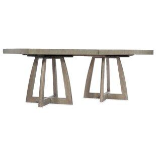 Bargain Affinity Pedestal Solid Wood Dining Table ByHooker Furniture