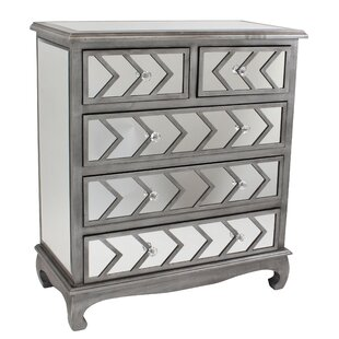 Davenport 5 Drawer Chest (Set of 2)