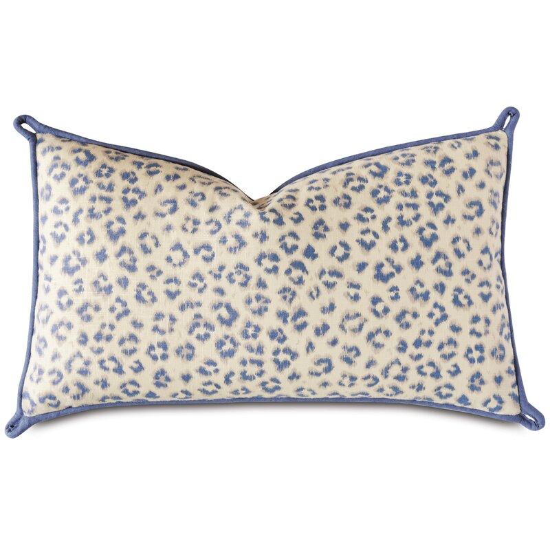 Eastern Accents Charlotte Moss Capri Linen Feathers Animal Print Lumbar Pillow Perigold