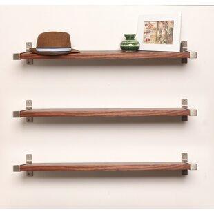 Gracie Oaks Alessio Wood Wall Shelf (Set ..