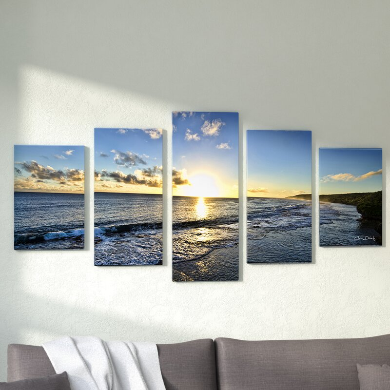 'Day Break' 5 Piece Photographic Print on Wrapped Canvas Set