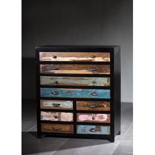 Mars Wooden 10 Drawer Double Dresser by Millwood Pines