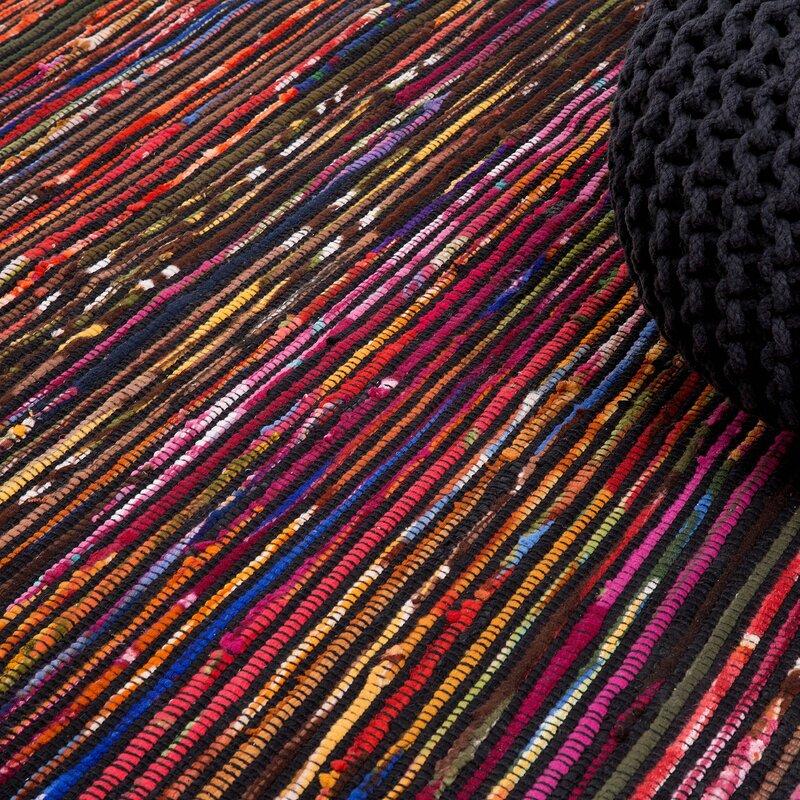 home loft concept handgefertigter teppich bartin aus wolle in schwarz lila bewertungen. Black Bedroom Furniture Sets. Home Design Ideas