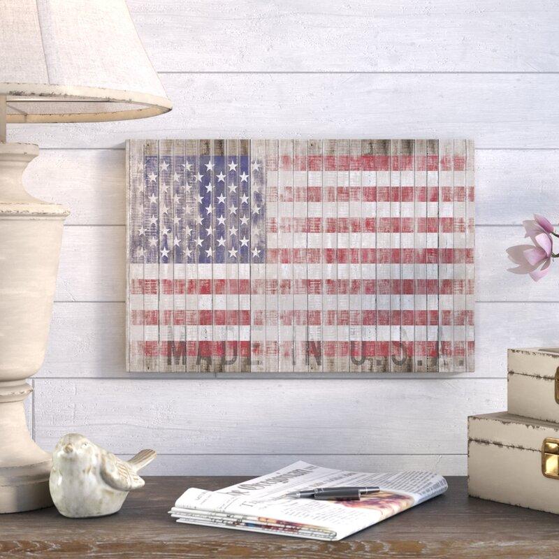 U0027American Flag Iu0027 Graphic Art Print
