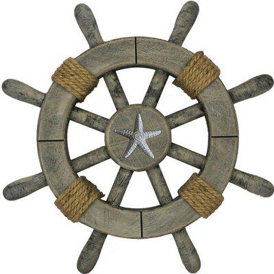 Ship Wheel With Starfish Wall Décor