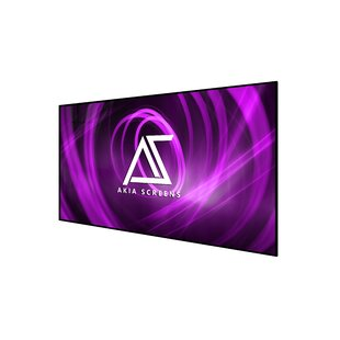 Akia Edge Free White Fixed Frame Projector Screen