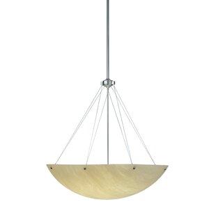 Meyda Tiffany Cypola Alabaster 8-Light Bowl Pendant
