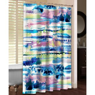 Laural Home Silky Designs Shower Curtain