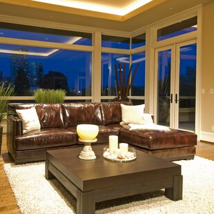 Davis Leather Sectional by Elements Fine Home Furnishings