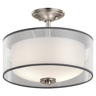 Ronald 2-Light Semi Flush Mount by Latitude Run