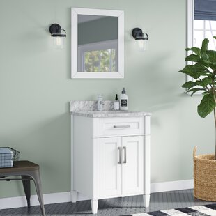 Lachine Marble 24 inch  Single Bathroom Vanity with Mirror