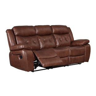 Casto Leather Reclining Sofa by Red Barrel Studio No Copoun