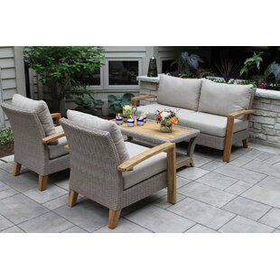 Laurel Foundry Modern Farmhouse Dillard 4 Piece Sofa Seating Group with Cushions