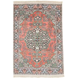Plummer Hand Knotted Orange/Grey Rug by World Menagerie