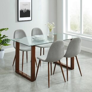 Peggie Contemporary 5 Piece Dining Set Wrought Studio