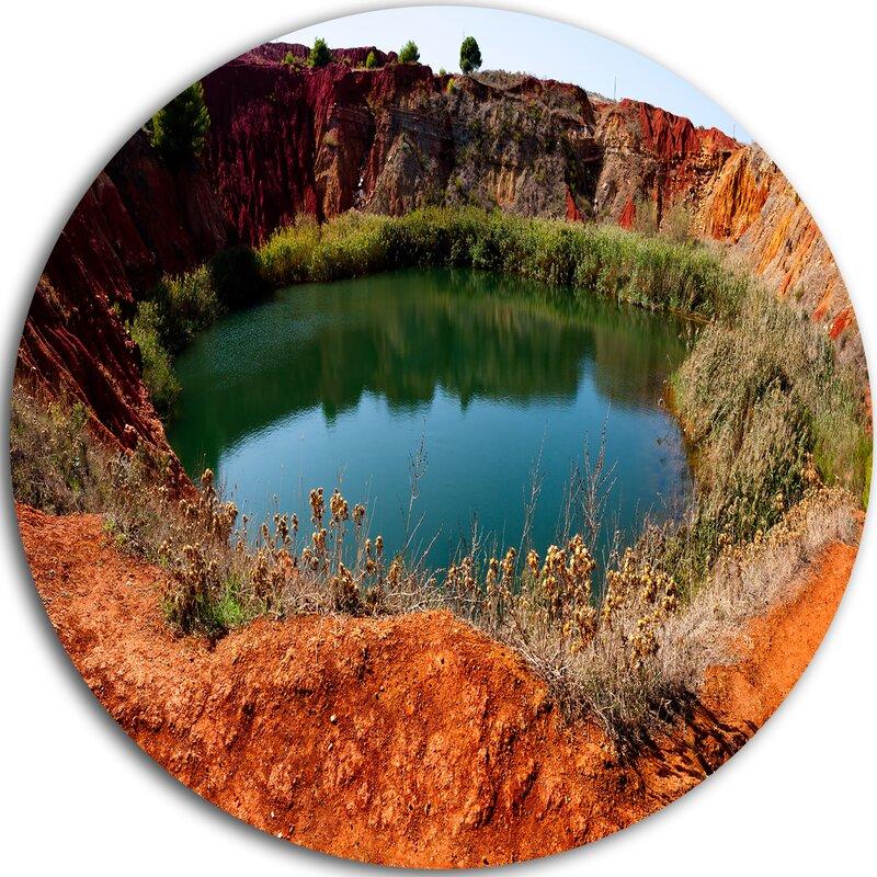 Designart Bauxite Mine With Lake Photographic Print On Metal Wayfair