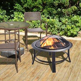 Peaktop Outdoor Steel Wood Burning Fire Pit