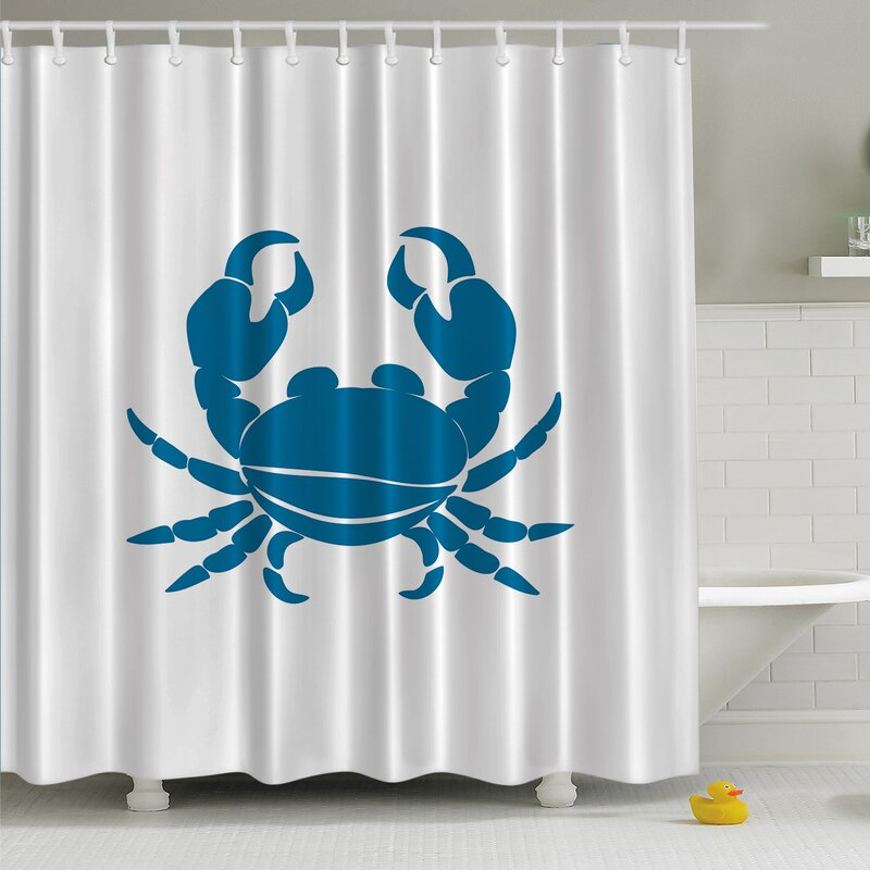Great Maryland Crab Print Shower Curtain
