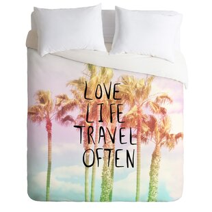 East Urban Home Love Life Travel Often Tropical Duvet Cover Set