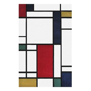Compare & Buy Modern Living Neo Metro Hand Tufted Red/Black Area Rug ByAmerican Home Rug Co.