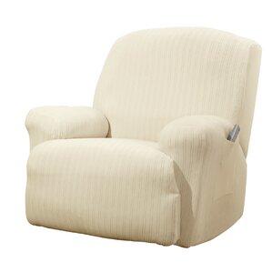 Stretch Pinstripe T Cushion Recliner Slipcover