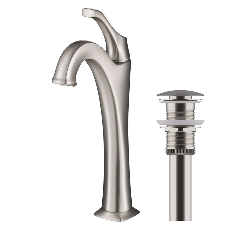 Kraus  Arlo Single Hole Bathroom Faucet with Drain Assembly Finish: Spot Free Stainless