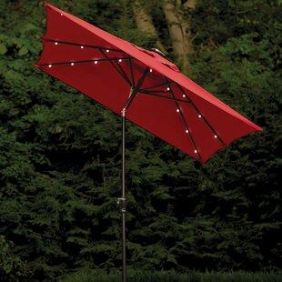Allston 9' X 7' Rectangular Lighted Umbrella