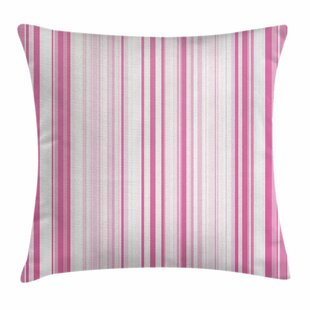Vertically Striped Square Pillow Cover