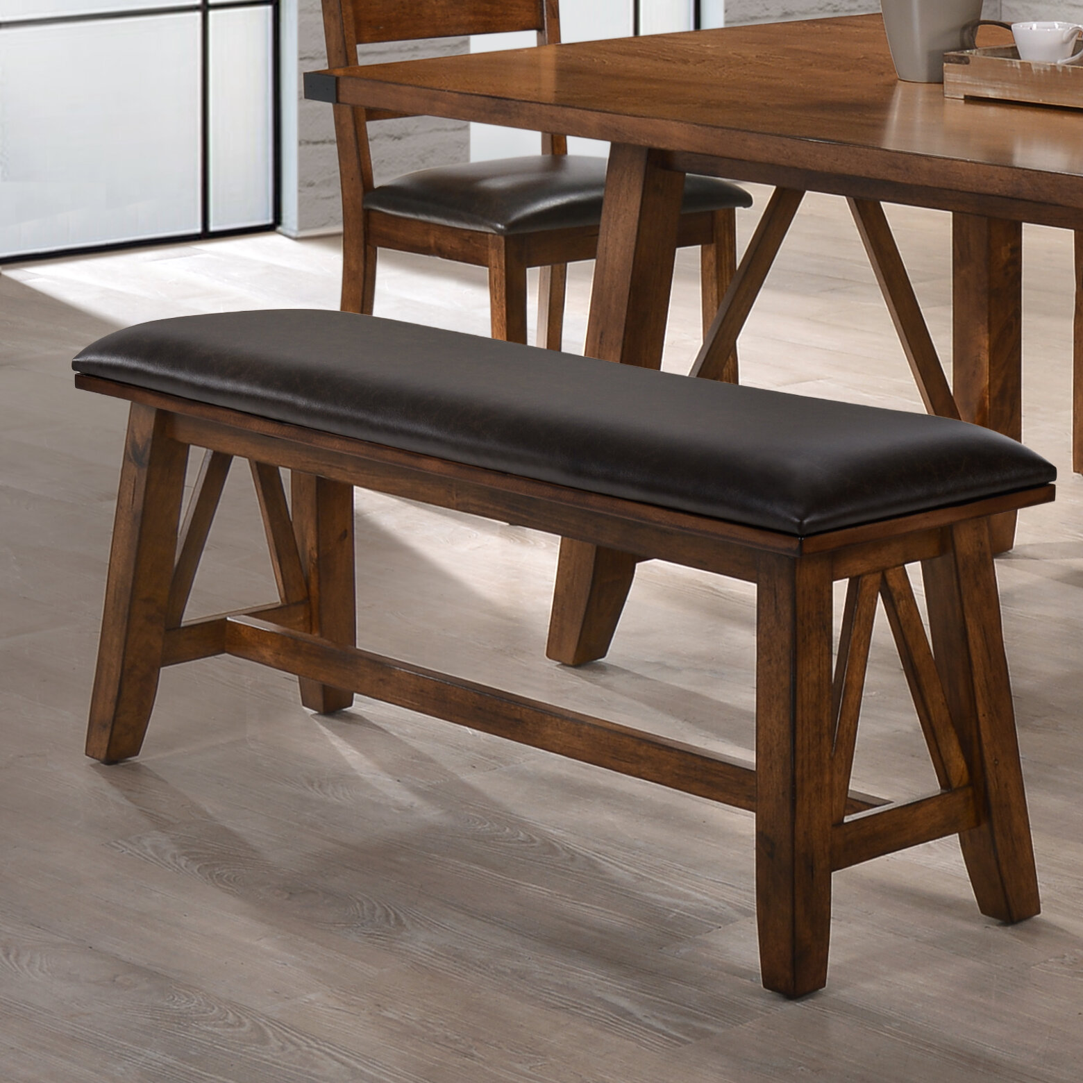 Ordinaire Loon Peak Moree Faux Leather Dining Bench | Wayfair