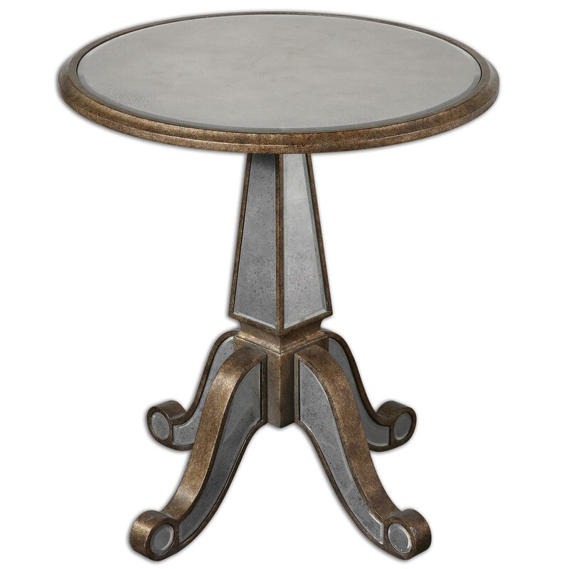 Mirrored Eraman End Table