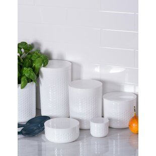 Contemporary 5 Piece Kitchen Canister Set