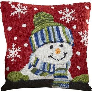 haggerty snow boy throw pillow