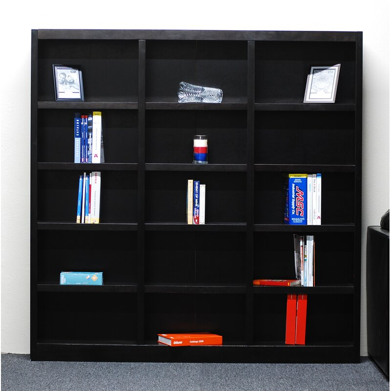 "Winston Porter Flannagan 72"" H x 72"" W Library Bookcase & Reviews"