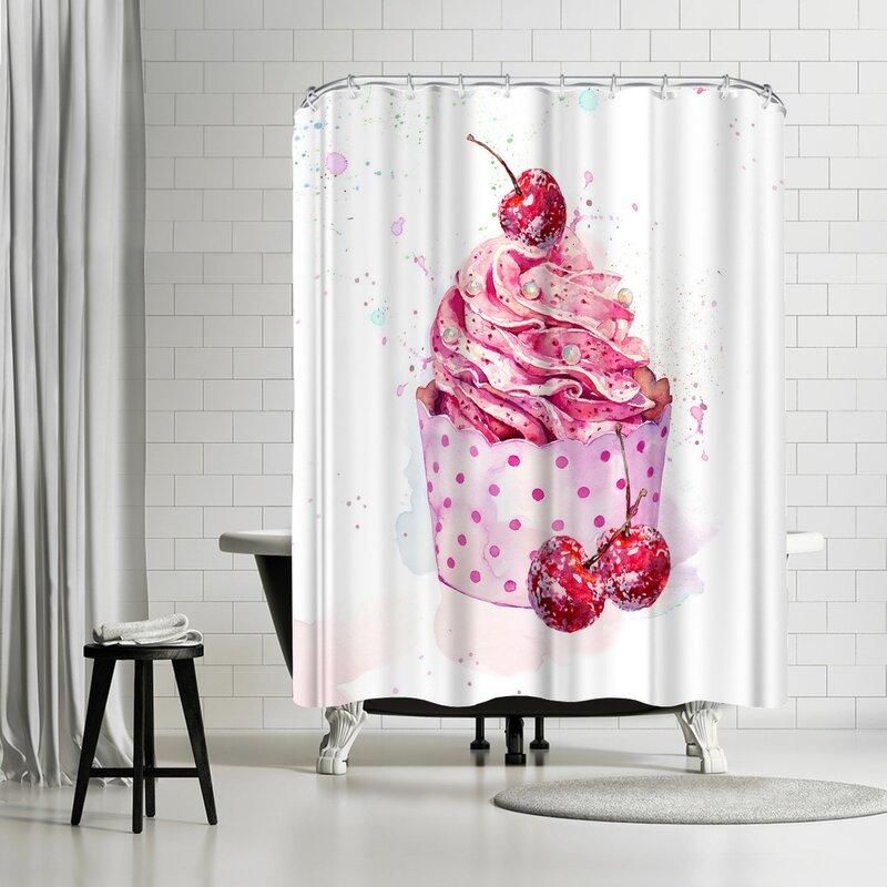 Charmant Harrison Ripley Cupcake Shower Curtain
