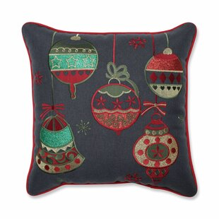 Snyder Sparkling Christmas Ornaments Throw Pillow