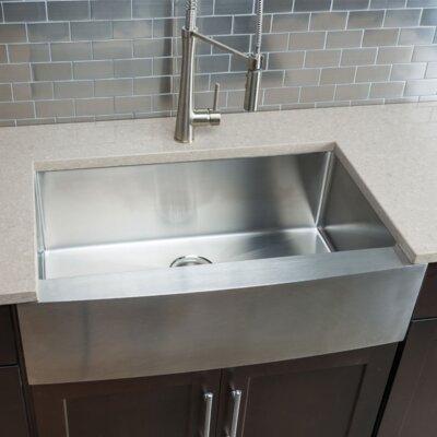 "Farmhouse Kitchen Sinks emodern decor ariel 33"" x 21"" stainless steel single bowl"