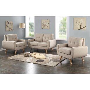 Bloomington Tufted 3 Piece Living Room Set by Corrigan Studio
