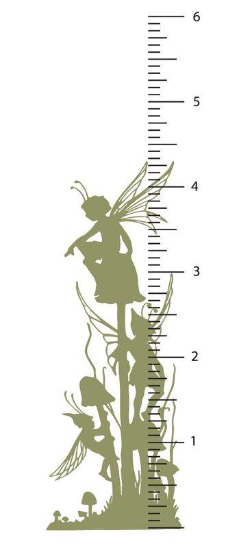 The Decal Guru Fairy Growth Chart Wall Decal Wayfair