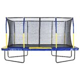 Easy Assemble Mega 15' Rectangular Trampoline with Safety Enclosure Black and Yellow