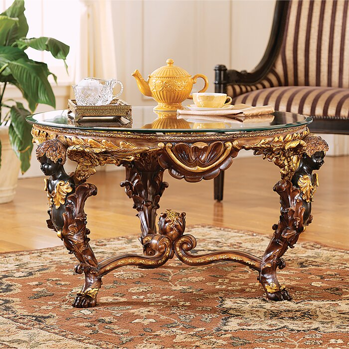 Louis Xiv Coffee Table With Gl Top