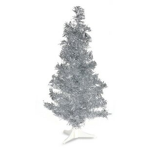 pvc 2 silver artificial christmas tree